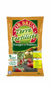 PAILLAGE FERTILISÉ DU POTAGER 13 KG - OR BRUN