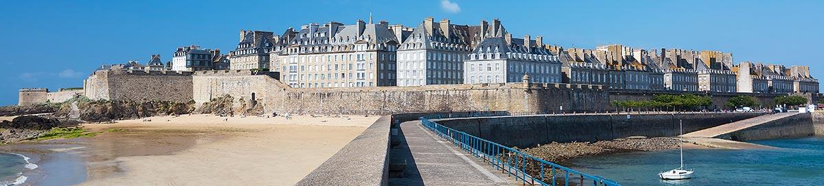 Paysage breton ville de Saint Malo